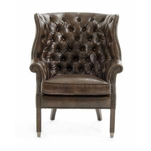 Rachlin Classics Bates Leather Accent Chair
