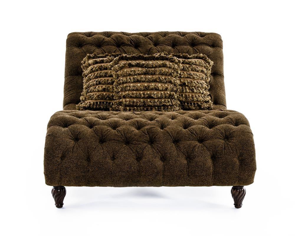 Rachlin Classics Dinah Decorative Dinah Chaise with Exotic Furniture Appeal - Baeru0026#39;s Furniture ...