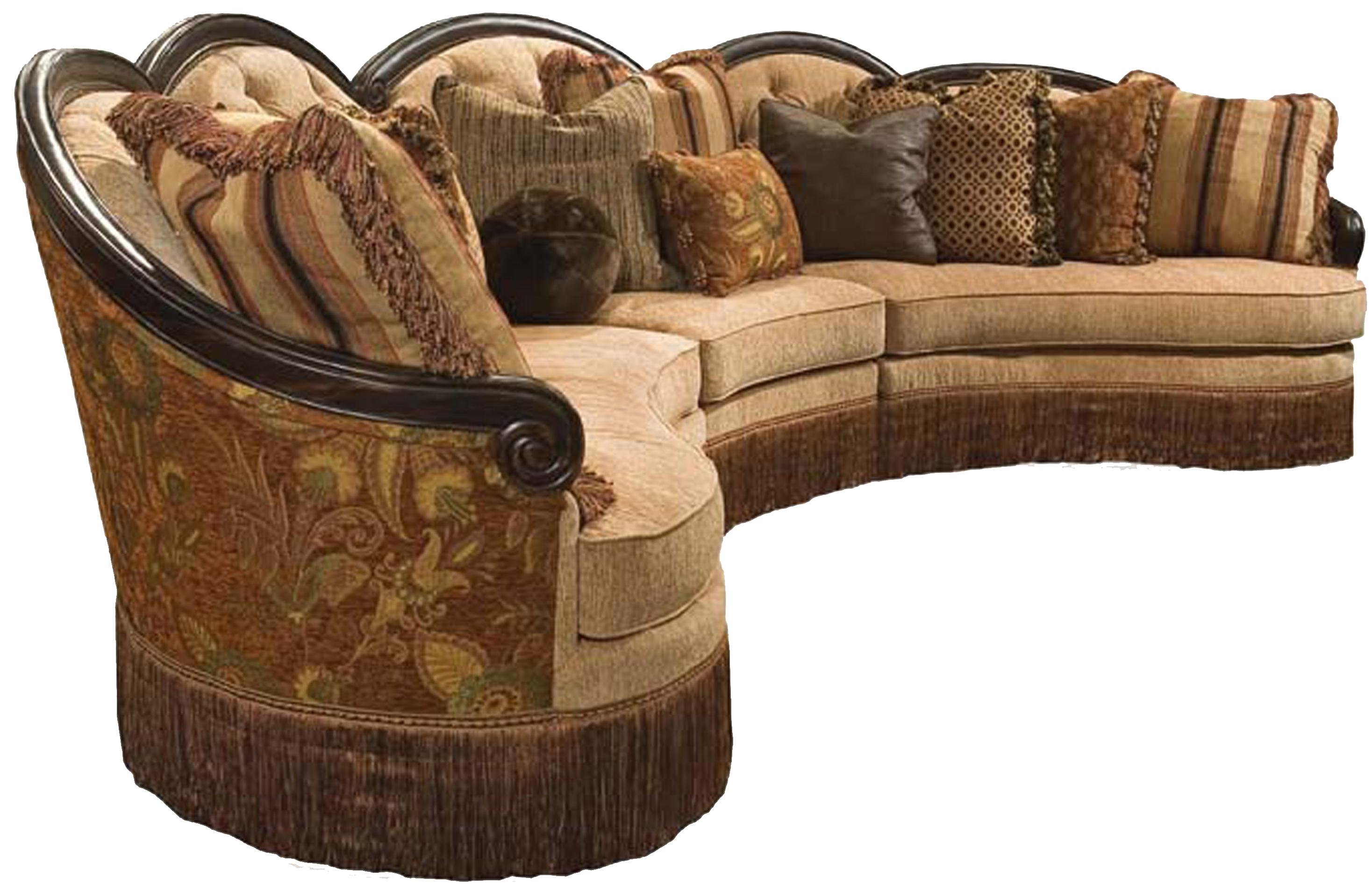 Rachlin Classics Grace Traditional 3pc Conversational Sectional