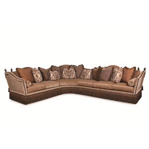 Rachlin Clics Lorraine Fringed Sectional Sofa