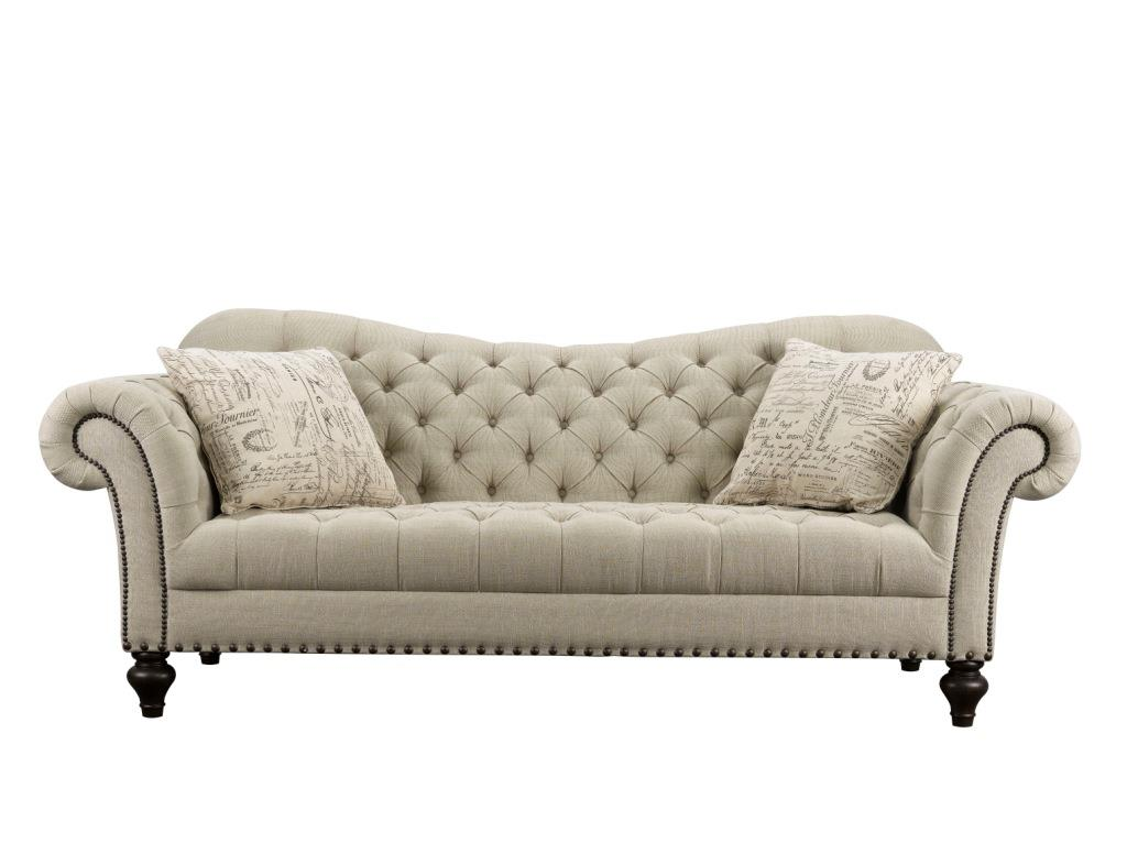 Rachlin Classics Vanna Traditional Tufted Fabric Sofa   Item Number:  K VannaFD TG