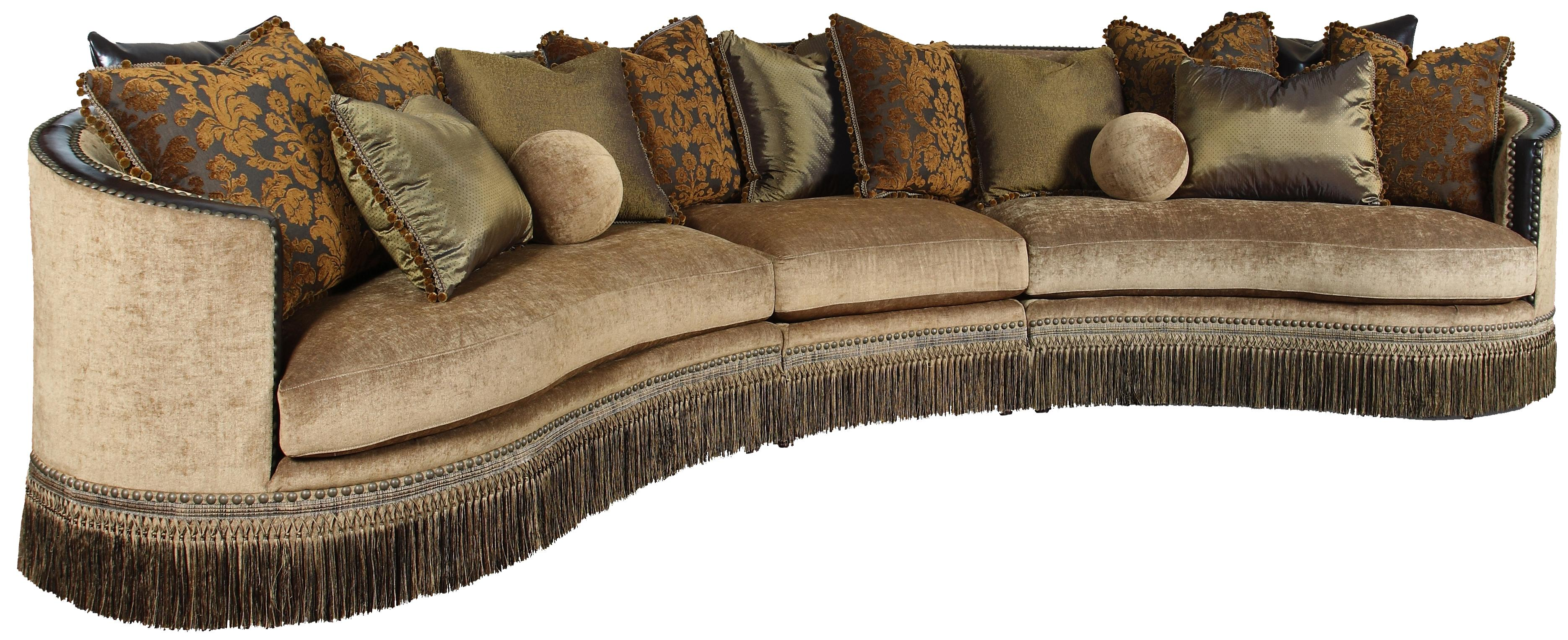 Rachlin Classics Whitney Traditional 3 Piece Sectional Sofa with