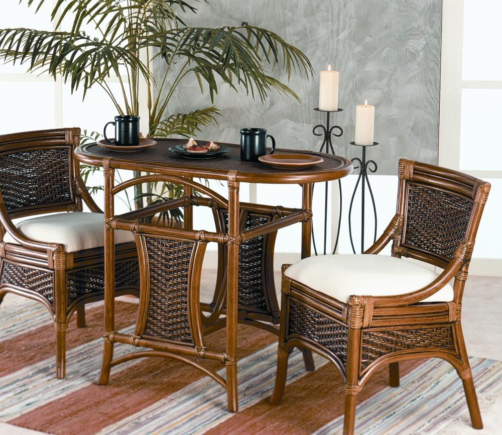 Ratana Aspen 3 Piece Breakfast Table Set - Item Number: FN10961WAL Aspen
