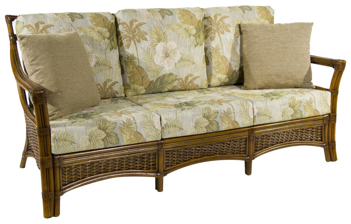 Ratana Jamaica Breeze Sofa with Woven Rattan Base - HomeWorld Furniture - Sofa