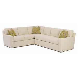 RC Furniture by Rene Cazares Finn Contemporary Weltless Sectional Sofa