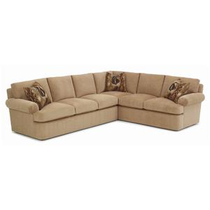 Oliver Casual Sectional Sofa with Rolled Arms by RC Furniture by Rene Cazares
