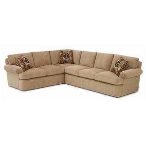 Oliver Casual Sectional Sofa wtih Rolled Arms by RC Furniture by Rene Cazares