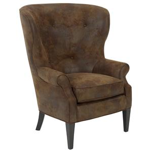 Owen  Traditional Wing Chair by RC Furniture by Rene Cazares