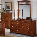 Renar Furniture Contempo Dresser with Mirror Combination