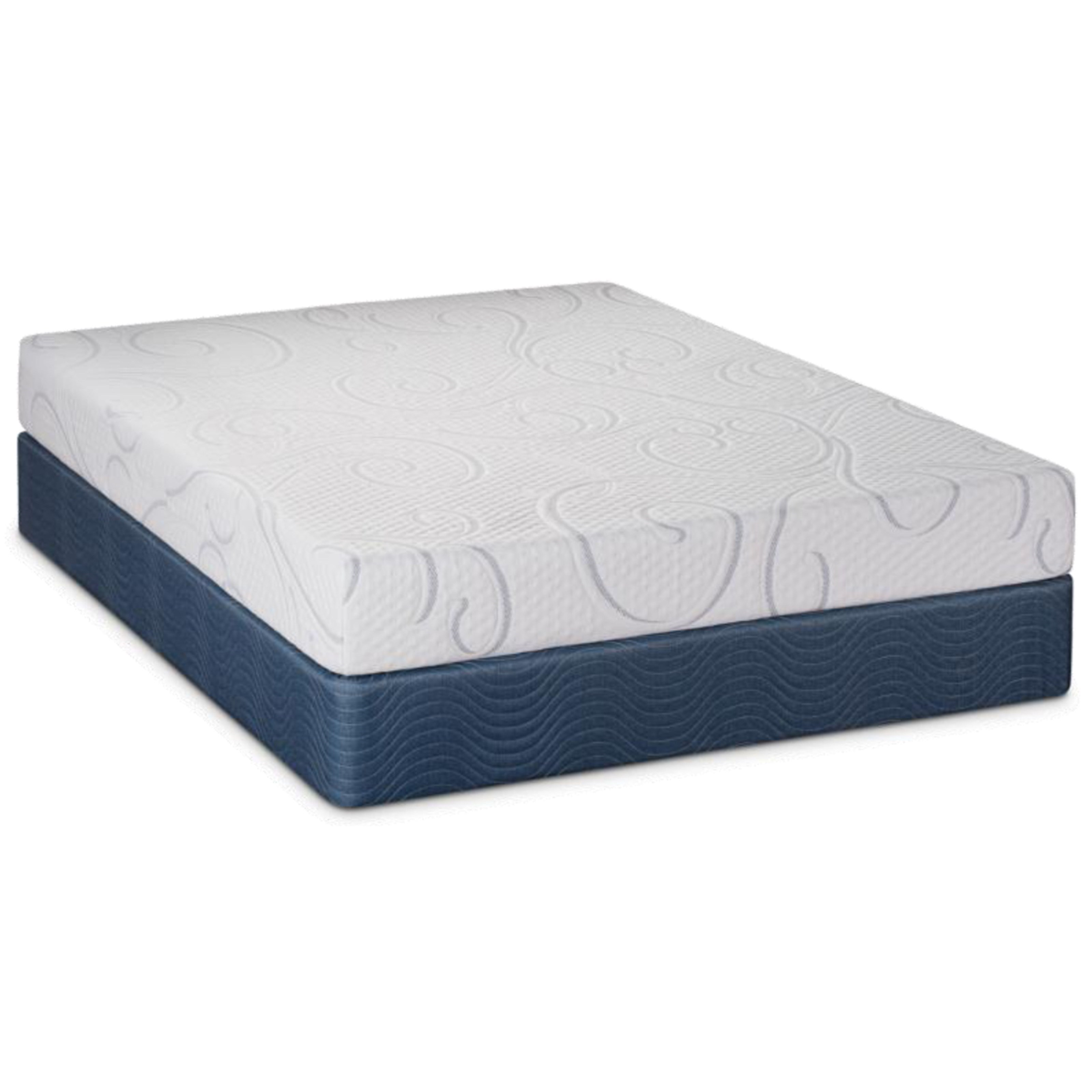 "Queen 8"" Gel Memory Foam Low Pro Set"