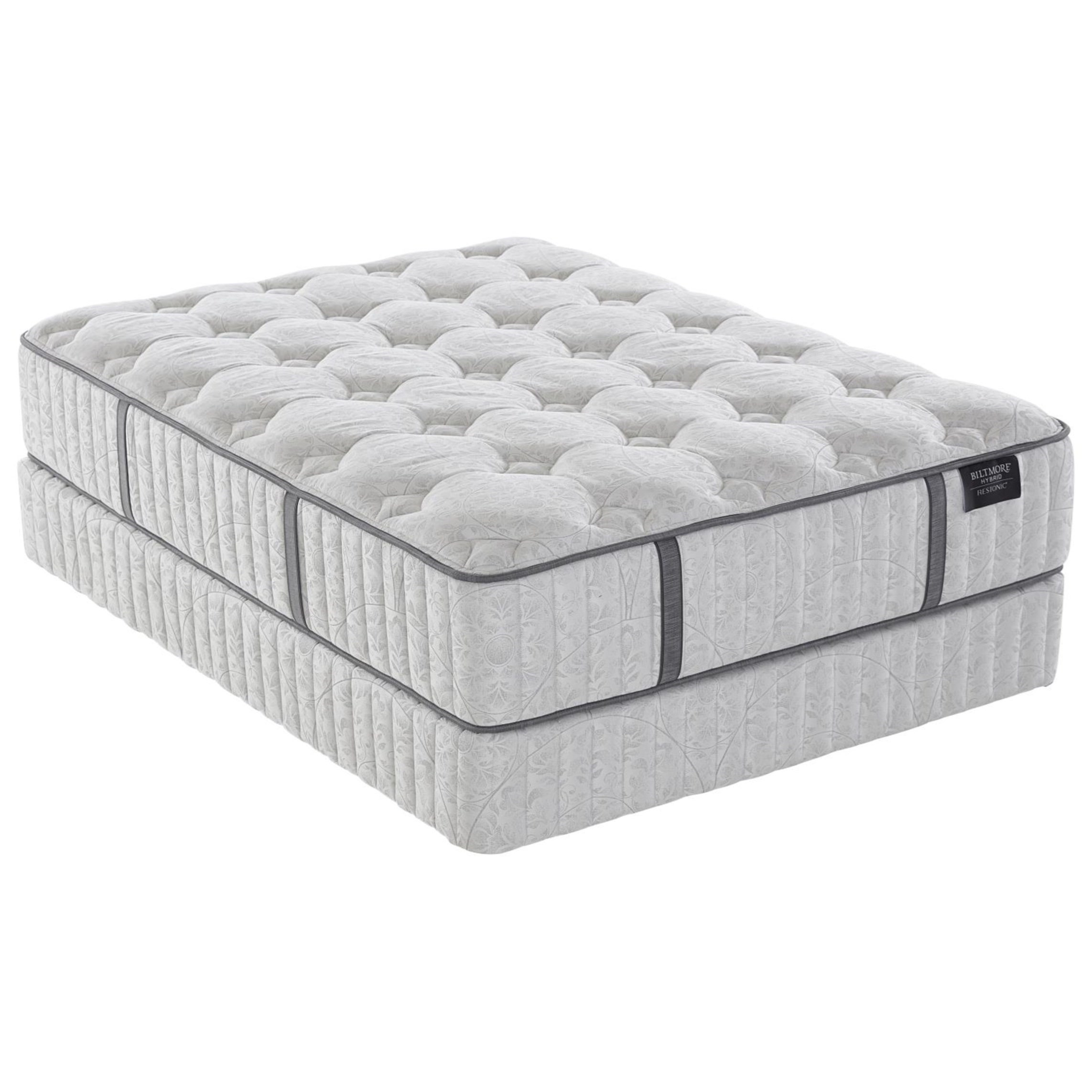 "Biltmore Reserve Hybrid Belle Twin XL 14"" Plush Hybrid Mattress Set by Restonic at Rotmans"