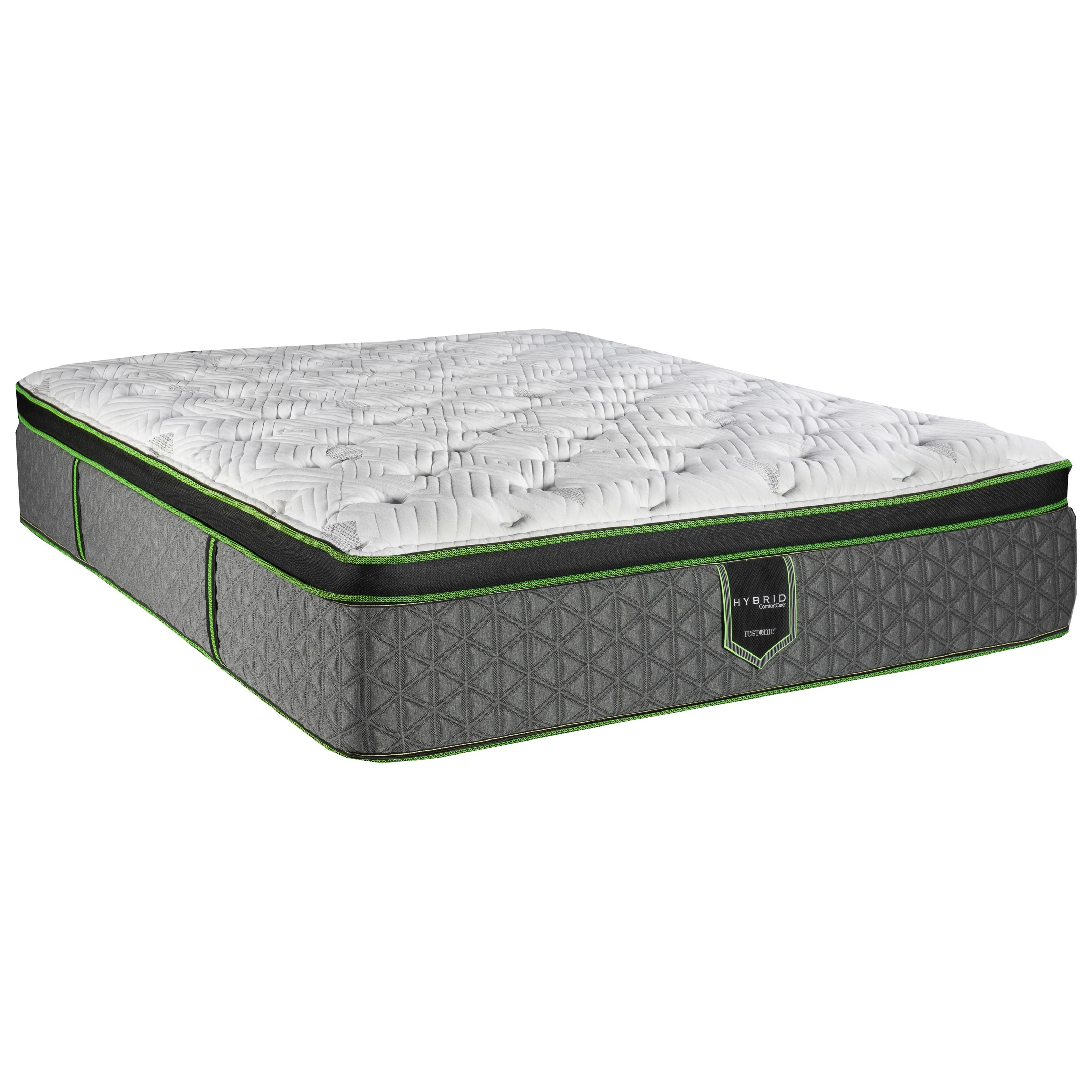 "Queen 15"" Plush Hybrid Euro Top Mattress"
