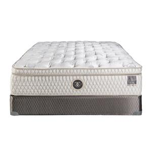 "Restonic Hybrid ""St. James"" Queen 14.5"" Hybrid Plush Box Top Mattress Se"