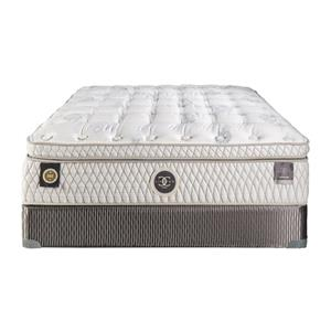 "Restonic Hybrid ""Versailles"" Queen 15.5"" Plush Box Top Hybrid Mattress"