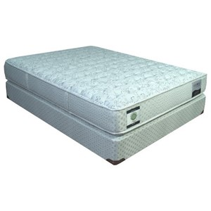 "Restonic CC Linwood Plush Queen 13"" Two Sided Plush Mattress Set"