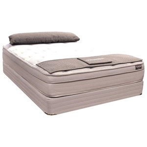 Zak's Private Collection Cherokee Euro Top Twin Euro Top Pocketed Coil Mattress Set