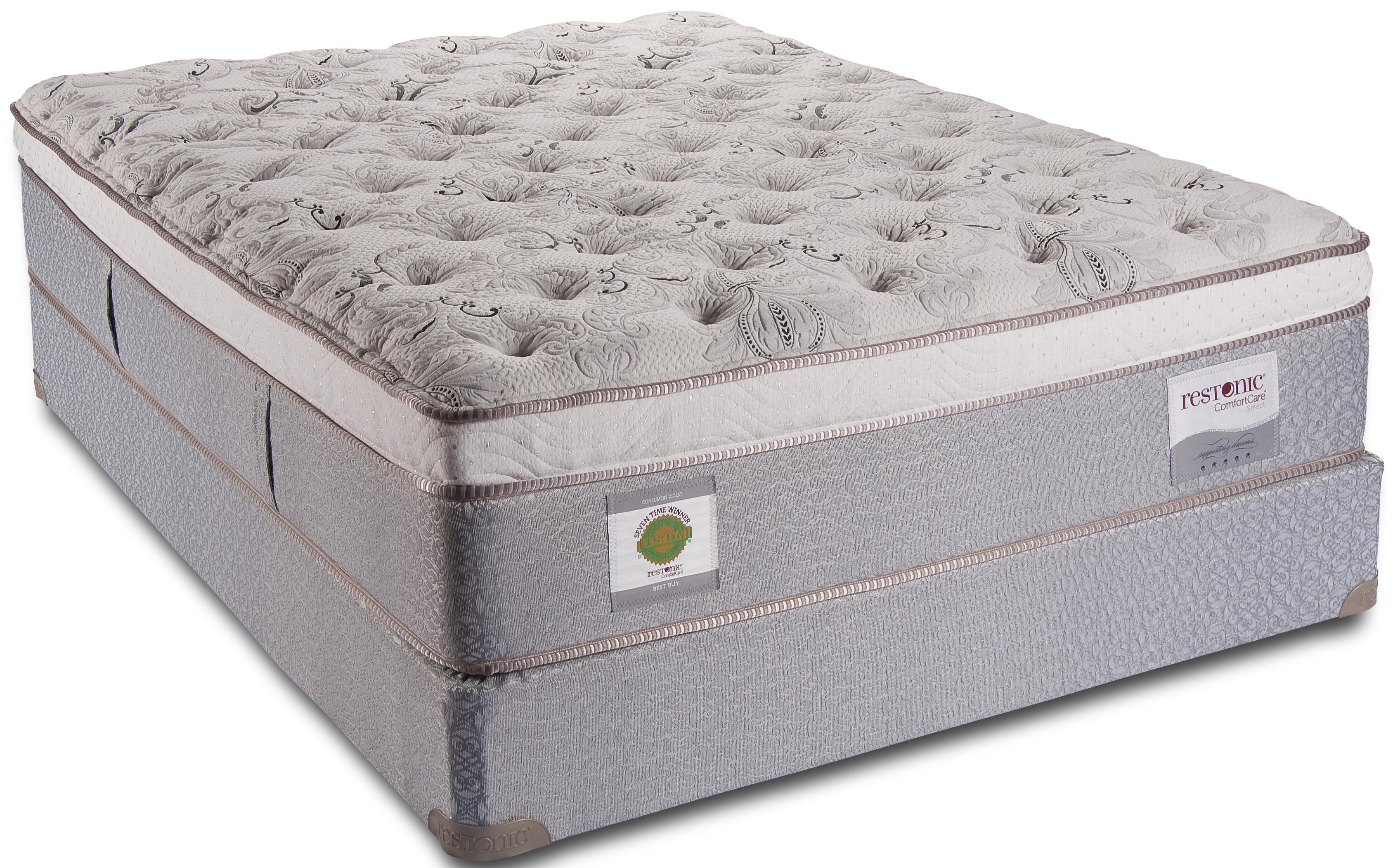 Comfortcare Select Essex King Euro Top Mattress By Restonic Wolf Furniture