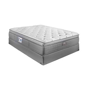 Restonic ComfortCare Signature - Saphire Twin Pillow Top Hybrid Mattress Set
