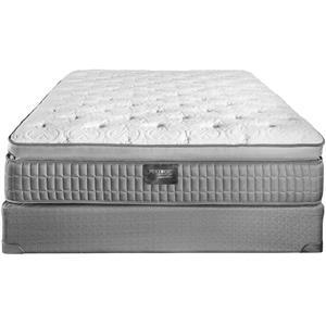 King Latex Pillow Top Mattress Set