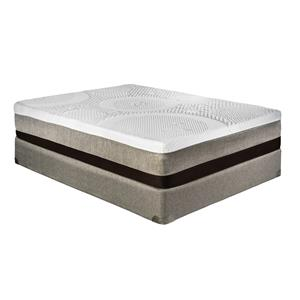"Restonic Memory Foam ""Barcelona"" Queen Firm Mattress Set"