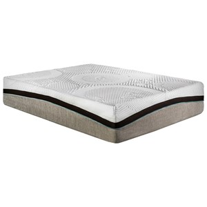"Restonic Cologne Queen 13"" Gel Memory Foam Mattress"