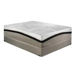 "Restonic Memory Foam ""Cologne"" Queen Plush Mattress Set"