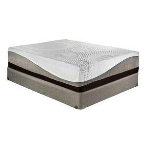 "Restonic Memory Foam ""Dijon"" Queen Plush Mattress Set"