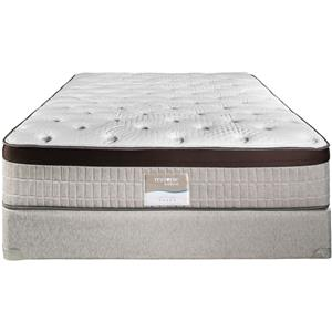 "Restonic Memory Foam ""Turin"" Luxury Firm Queen Mattress Set"