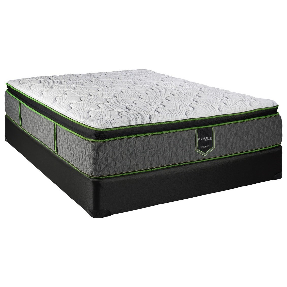 King Pillow Top Hybrid Low Profile Set