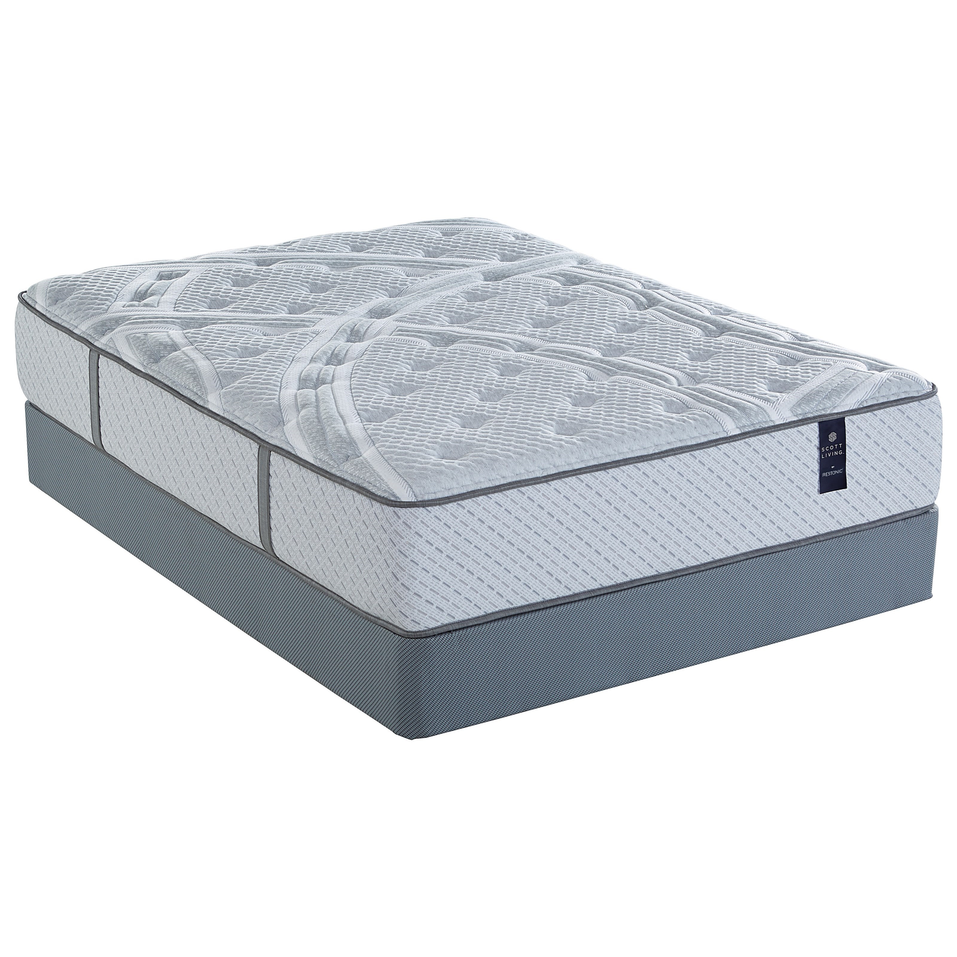 Queen Plush Pocketed Coil Mattress Set