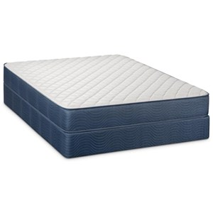 "Restonic Sumner Firm Queen 9"" Firm Two Sided Mattress Set"