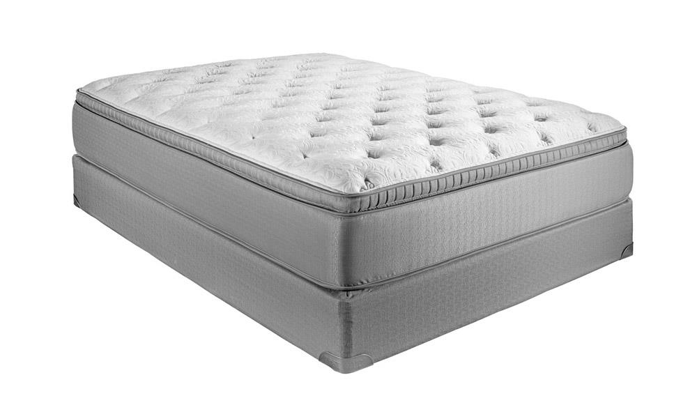 Twin Euro Top Plush Hybrid Mattress Set