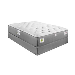 Restonic Kingsbury Twin Luxury Firm Hybrid Mattress and Foundation