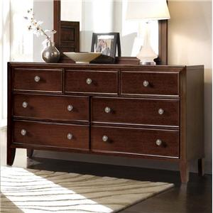Milan  Mid-Century Dark Brown 7-Drawer Dresser by RiversEdge Furniture