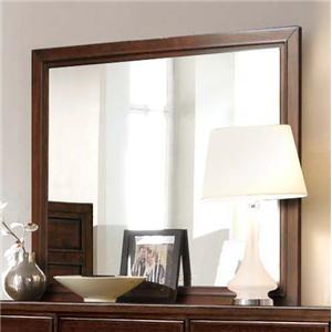 Milan  Mid-Century Dark Brown Landscape Mirror by RiversEdge Furniture