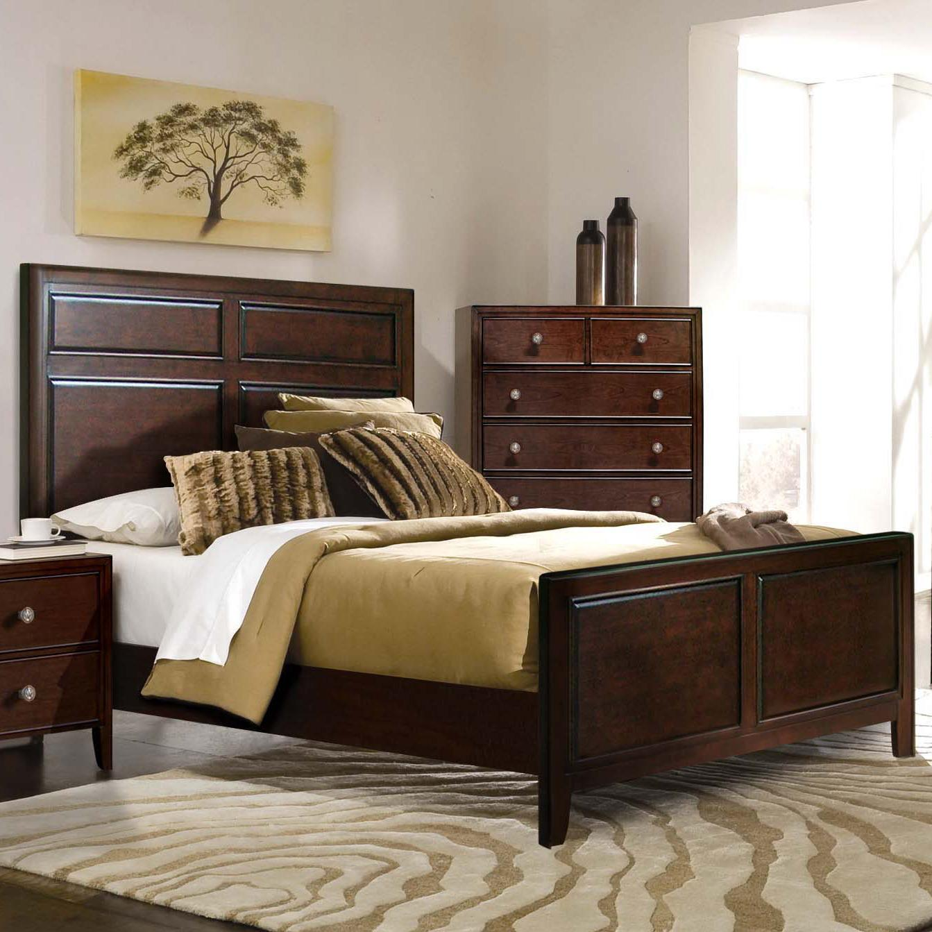 Riversedge Furniture Milan Queen Panel Bed