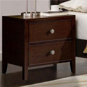 Milan  Mid-Century Dark Brown Nightstand by RiversEdge Furniture