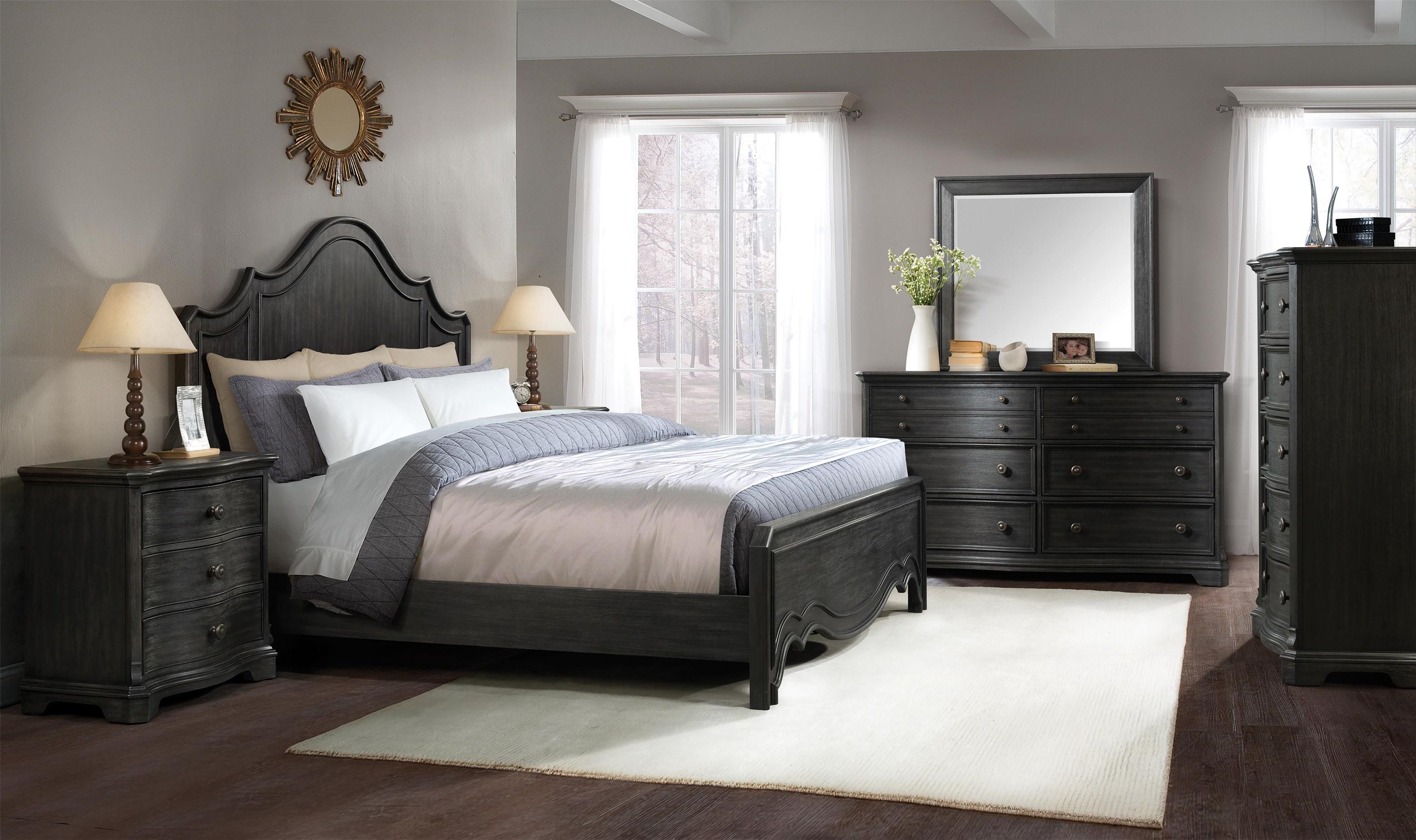 Riverside Furniture 217 Memorial King Panel Bed - Item Number: RIV217KKIT
