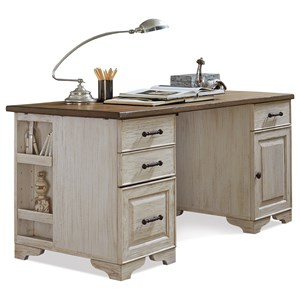 Riverside Furniture Aberdeen Pedestal Desk