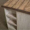 Riverside Furniture Aberdeen Pedestal Desk with Plank Top