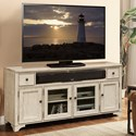 Riverside Furniture Aberdeen 70-In TV Console in Weathered Worn White Finish