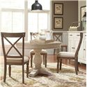 Riverside Furniture Aberdeen 4 Piece Round Dining Set - Item Number: 21253+4x21358