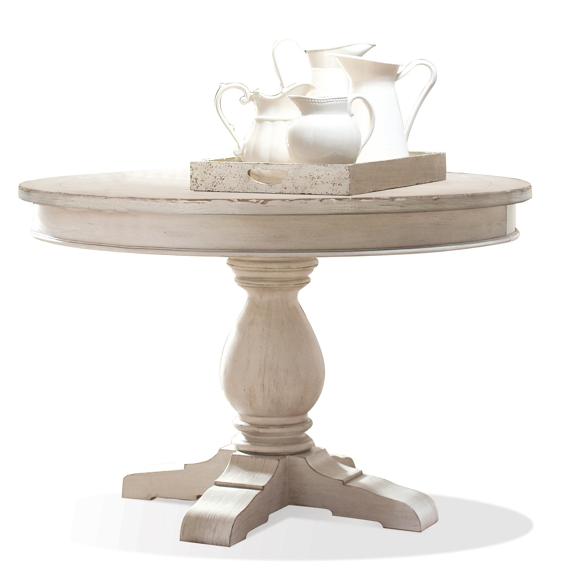 Riverside Furniture Aberdeen Round Pedestal Dining Table Furniture Fair North