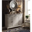 Riverside Furniture Aberdeen Weathered Server w/ Drawers and Doors