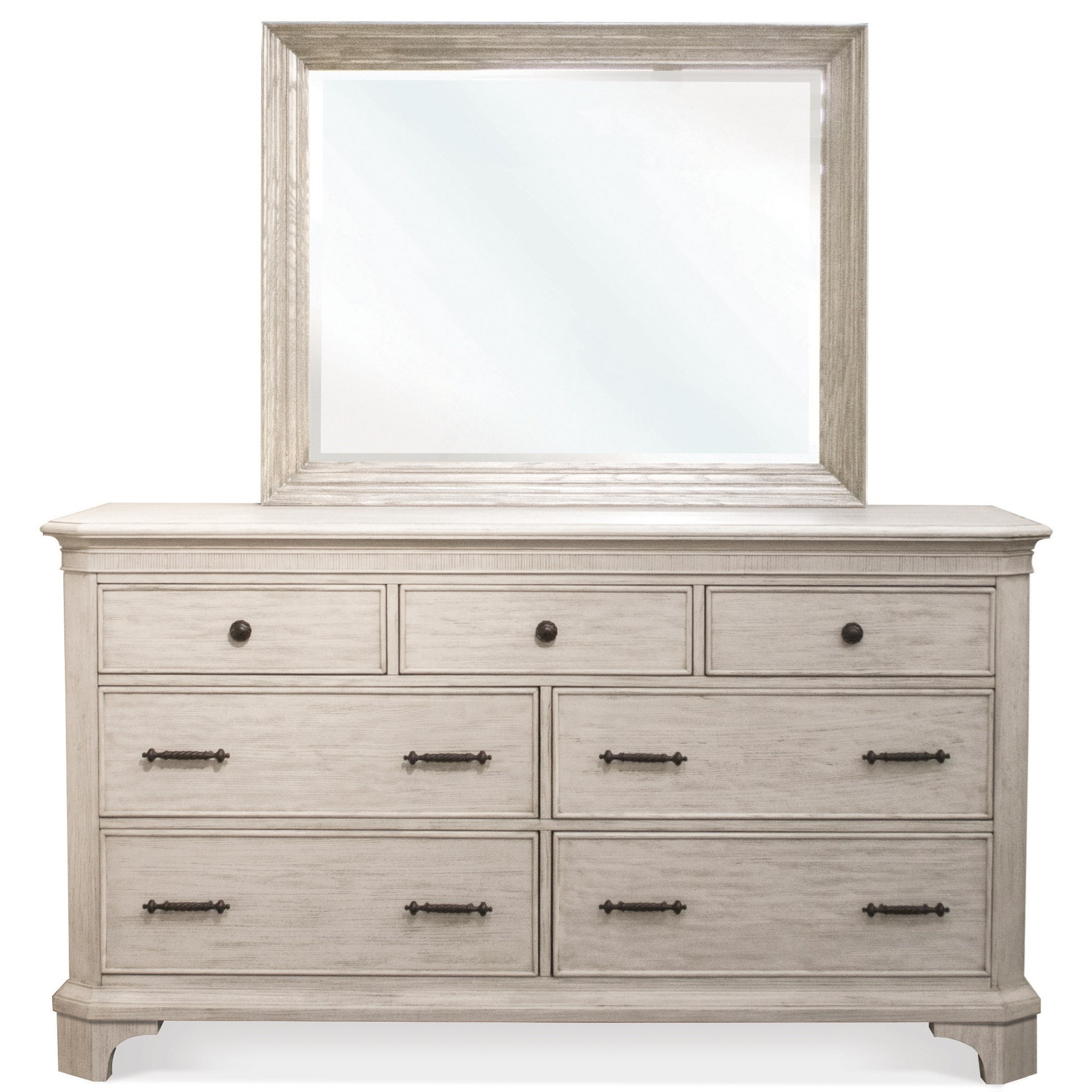 Riverside Furniture Aberdeen Dresser and Mirror Combo - Item Number: 21260+3