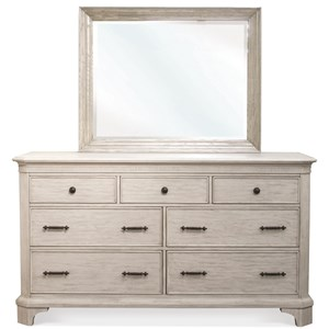 Riverside Furniture Aberdeen Dresser and Mirror Combo