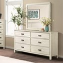 Riverside Furniture Aberdeen 6-Drawer Dresser with Felt-Lined Drawers