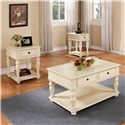 Riverside Furniture Addison Cottage Coffee Table with Storage