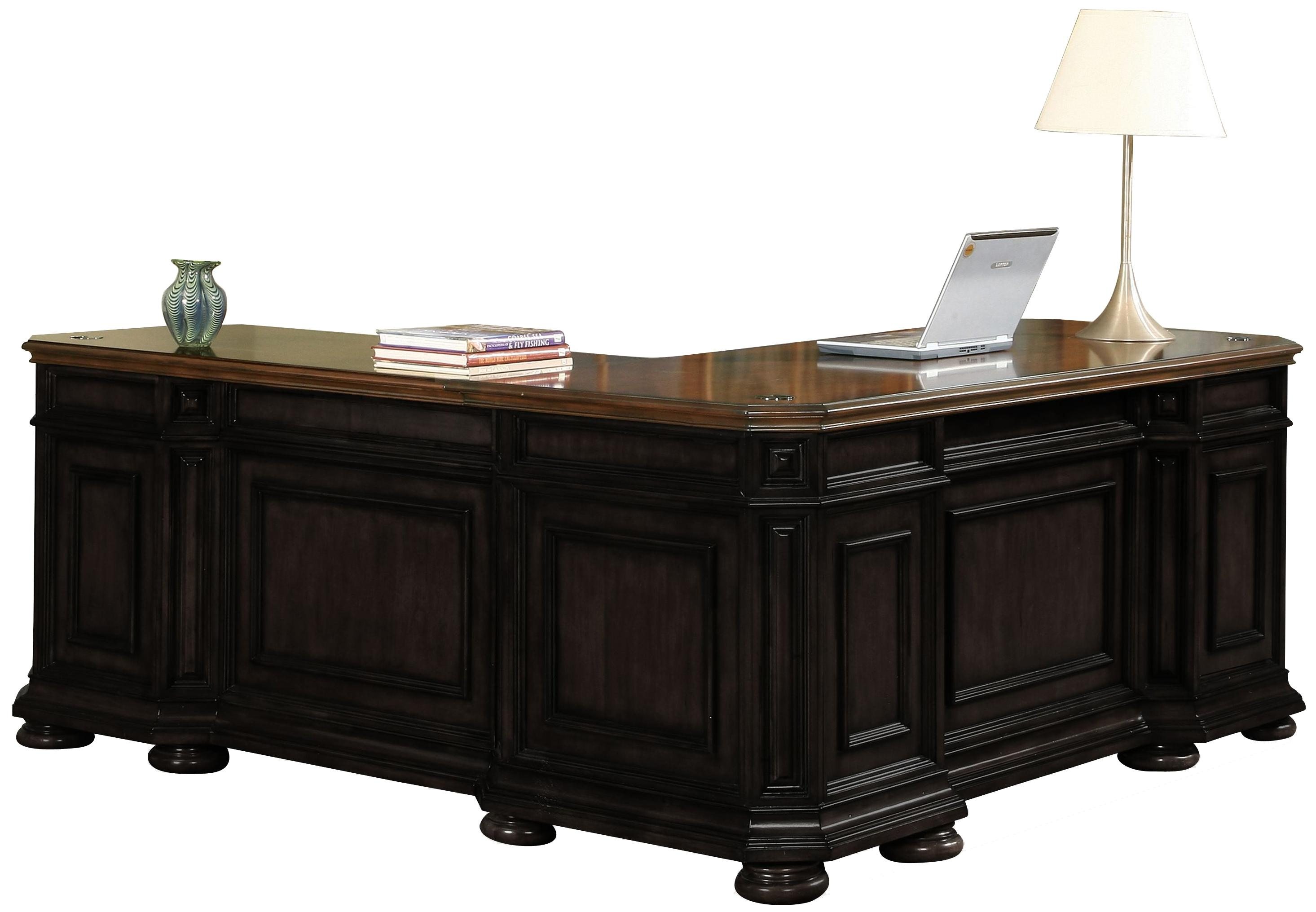 Riverside Furniture Allegro RS L Shape Desk with Return - Item Number: 44728