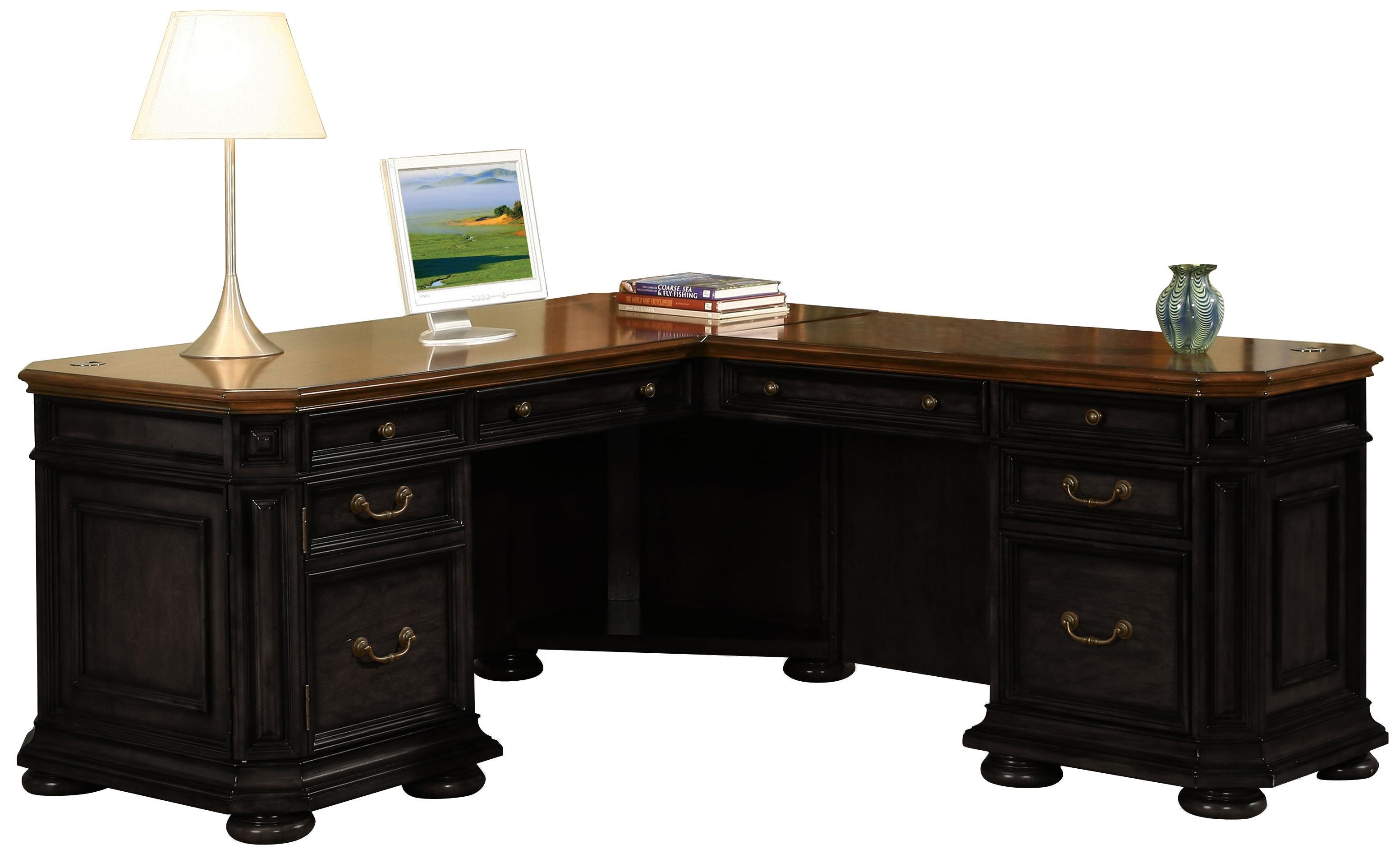 Riverside Furniture Allegro Rs L Shape Desk With Return